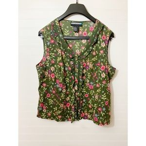 Requirements Green Floral Tank